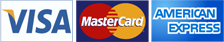 Accept Visa, Mastercard and American Express issued cards